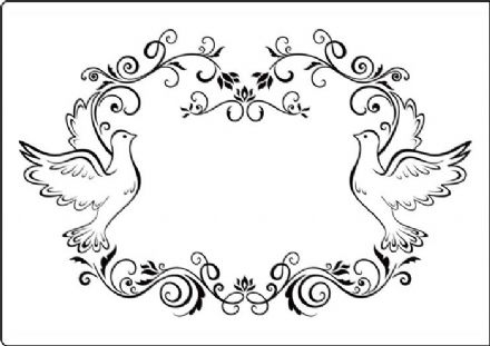 CTA409 ~ DOVE FRAME  ~ A4 embossing folder by Crafts Too